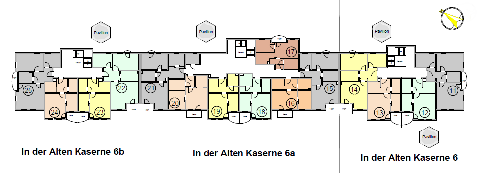 Seniorenwohnanlage Burg - Wohnungen im 1. Obergeschoss