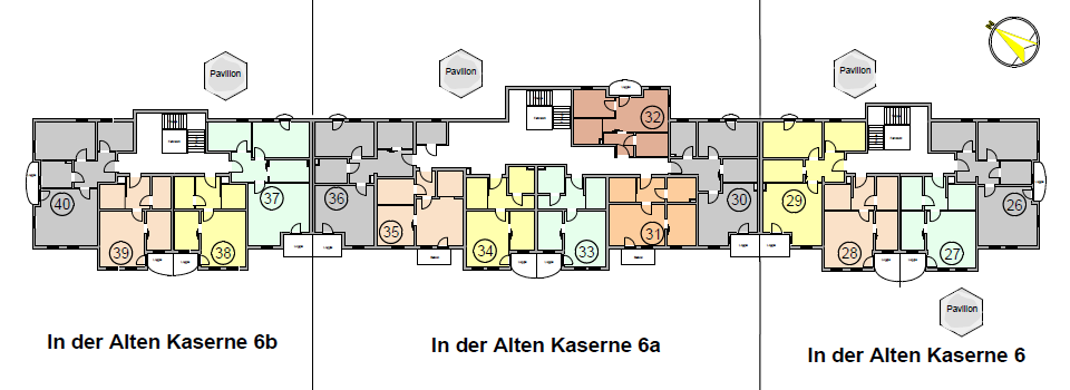Seniorenwohnanlage Burg - Wohnungen im 2. Obergeschoss