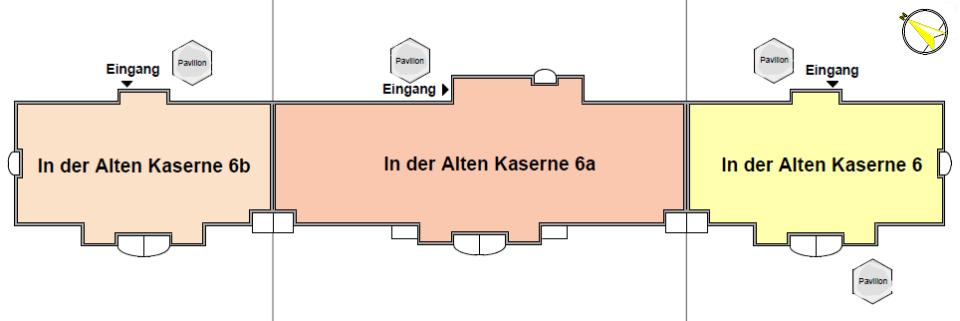 Grundriss der Wohnanlage für Senioren in Burg